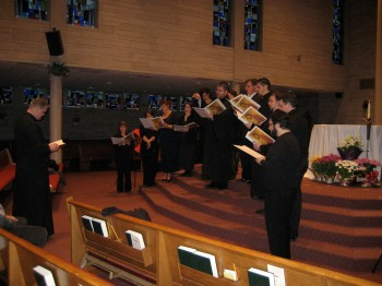 Fr. Peter with the choir during the Great Litany