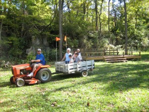 A hayride in the Grove